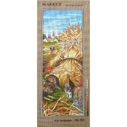 Canevas à broder 25 x 60 cm marque MARGOT thème à la campagne fabrication française