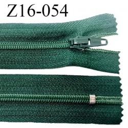 Fermeture zip 16 cm non séparable couleur vert anglais zip glissière nylon invisible longueur 16 cm largeur 27 mm prix à l'unité
