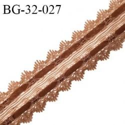 Galon ruban 32 mm style daim ou velours couleur marron largeur 32 mm prix au mètre