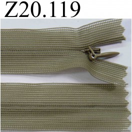 fermeture zip glissi re invisible verte longueur 20 cm couleur vert kaki non s parable zip. Black Bedroom Furniture Sets. Home Design Ideas