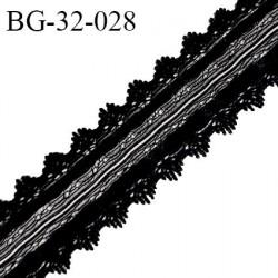 Galon ruban 32 mm style daim ou velours couleur noir largeur 32 mm prix au mètre