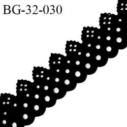Galon ruban 32 mm style daim ou velours perforé couleur noir largeur 32 mm prix au mètre