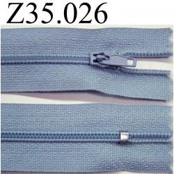 fermeture éclair  longueur 35 cm couleur  gris non  séparable zip nylon  largeur 2.5 cm