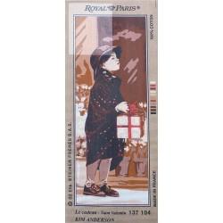 Canevas à broder 25 x 60 cm marque ROYAL PARIS thème LE CADEAU SAINT VALENTIN fabrication française