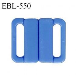 Boucle clip 16 mm attache réglette pvc spécial maillot de bain couleur bleu passage intérieur 16 mm haut de gamme prix à l'unité