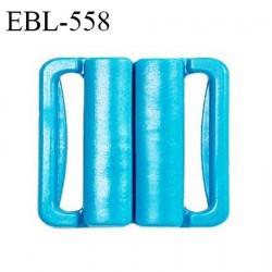 Boucle clip 16 mm attache réglette pvc spécial maillot de bain couleur bleu turquoise haut de gamme prix à l'unité