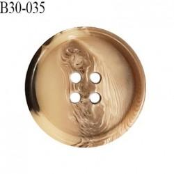 Bouton 31 mm en pvc couleur marron et beige marbré gris diamètre 31 mm épaisseur 5.5 mm prix à l'unité