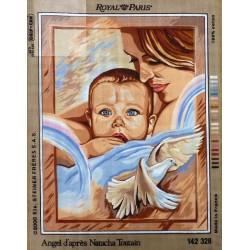 Canevas à broder 45 x 60 cm marque ROYAL PARIS thème angel d'après Natacha Toutain fabrication française