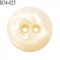 Bouton 34 mm en pvc couleur nacre brillant 2 trous diamètre 34 mm épaisseur 5.5 mm prix à l'unité
