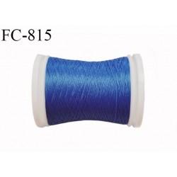 Bobine de 500 m fil mousse polyamide n° 120 couleur bleu longueur de 500 mètres bobiné en France