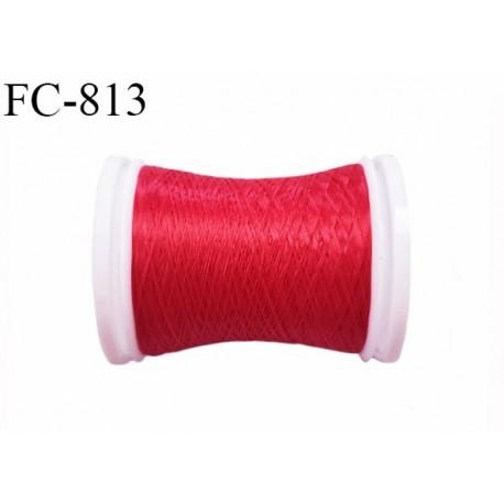 Bobine de 500 m fil mousse polyamide n° 120 couleur rouge longueur de 500 mètres bobiné en France