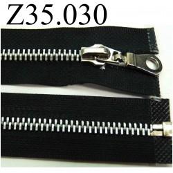 fermeture éclair  35 cm couleur noir  séparable zip métal largeur 3 cm largeur du zip 6 mm
