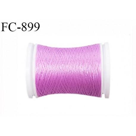 Bobine de 500 m fil mousse polyamide n° 120 couleur violine lilas longueur de 500 mètres bobiné en France