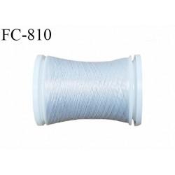 Bobine de 500 m fil mousse polyamide n° 120 couleur gris clair lumineux longueur de 500 mètres bobiné en France