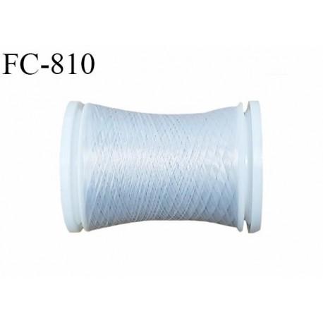 Bobine de 500 m fil mousse polyamide n° 120 couleur gris lumineux longueur de 500 mètres bobiné en France