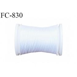 Bobine de 500 m fil mousse polyamide n° 120 couleur blanc longueur de 500 mètres bobiné en France