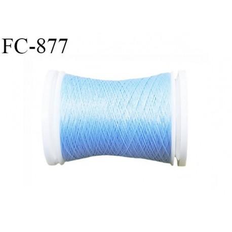 Bobine de 500 m fil mousse polyamide n° 120 couleur bleu lumineux longueur de 500 mètres bobiné en France