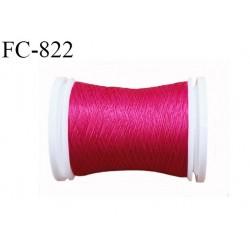 Bobine de 500 m fil mousse polyamide n° 120 couleur fushia longueur de 500 mètres bobiné en France
