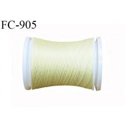 Bobine de 500 m fil mousse polyamide n° 120 couleur jaune pale longueur de 500 mètres bobiné en France