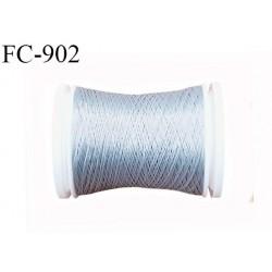Bobine de 500 m fil mousse polyamide n° 120 couleur gris souris longueur de 500 mètres bobiné en France