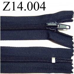 fermeture  éclair  longueur 14 cm couleur bleu non séparable zip nylon largeur 3,2 cm largeur du zip 6 mm