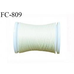 Bobine 500 m fil mousse polyamide n° 120 couleur ivoire écru perle longueur de 500 mètres bobiné en France