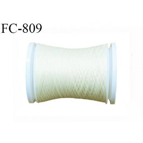 Bobine de 500 m fil mousse polyamide n° 120 couleur ivoir écru perle longueur de 500 mètres bobiné en France