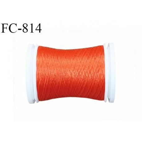 Bobine 500 m fil mousse polyamide n° 120 couleur orange lumineux tirant sur le rouille longueur de 500 mètres bobiné en France