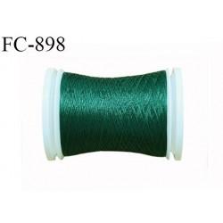 Bobine 500 m fil mousse polyamide n° 120 couleur vert bouteille longueur de 500 mètres bobiné en France
