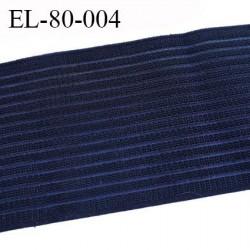 Elastique 80 mm très belle qualité couleur noir  rigide sur la largeur souple et doux très agréable au toucher prix au mètre