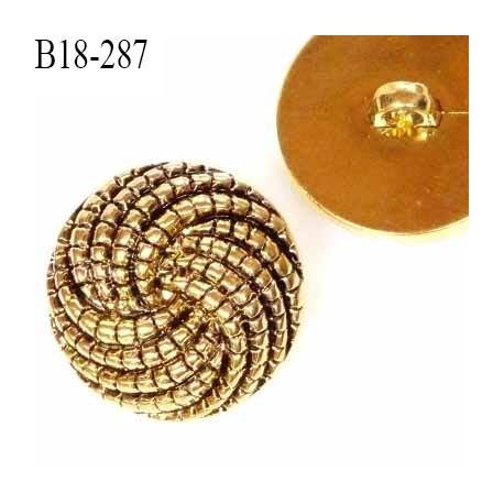 Bouton 18 mm pvc couleur or vieilli doré et noir diamètre 18 mm accroche avec un anneau prix à la pièce