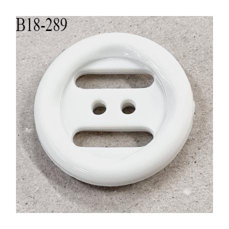 Bouton 18 mm en pvc blanc diamètre 18 mm prix à la pièce