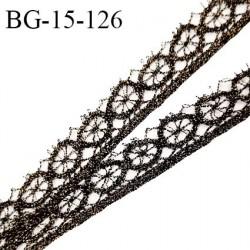 Galon ruban 15 mm style lurex couleur noir et doré largeur 15 mm prix au mètre