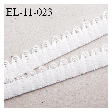 Elastique picot 11 mm lingerie couleur naturel largeur 11 mm haut de gamme Fabriqué en France prix au mètre