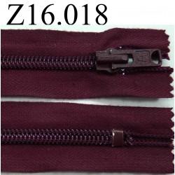 fermeture éclair longueur 16 cm couleur bordeau prune non séparable zip nylon largeur 2.8 cm largeur du zip 6 mm