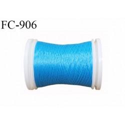 Bobine 500 m fil mousse polyamide n° 120 couleur bleu lumineux longueur de 500 mètres bobiné en France