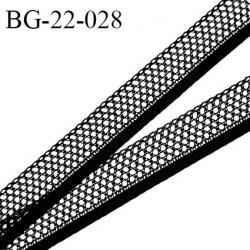 Galon ruban 22 mm synthétique style dentelle couleur noir largeur 22 mm largeur de la bande 6 mm prix au mètre