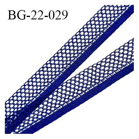 Galon ruban 22 mm synthétique style dentelle couleur bleu largeur 22 mm largeur de la bande 6 mm prix au mètre