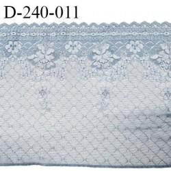 Dentelle 23 cm très haut de gamme extensible largeur 23 cm couleur bleu glacier très belle prix pour un mètre