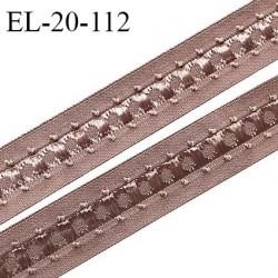 Elastique 19 mm bretelle et lingerie couleur macchiato fabriqué en France pour une grande marque largeur 19 mm prix au mètre