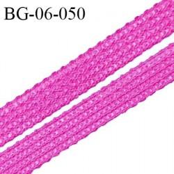 Droit fil à plat 6 mm spécial lingerie et couture couleur pivoine grande marque fabriqué en France prix au mètre