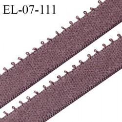 Elastique picot 7 mm lingerie couleur macchiato largeur 7 mm haut de gamme Fabriqué en France prix au mètre