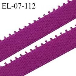 Elastique picot 7 mm lingerie couleur fuchsia largeur 7 mm haut de gamme Fabriqué en France prix au mètre