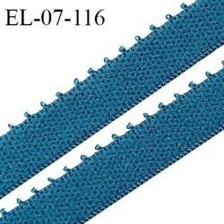 Elastique picot 7 mm lingerie couleur bleu vertigo largeur 7 mm haut de gamme Fabriqué en France prix au mètre