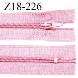 Fermeture zip 18 cm non séparable couleur rose largeur 2.7 cm zip nylon longueur 18 cm prix à l'unité