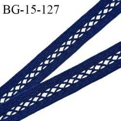 Galon ruban 15 mm entre-deux couleur bleu largeur 15 mm prix au mètre