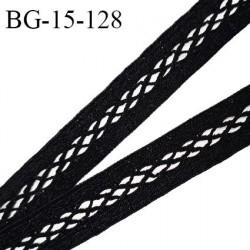Galon ruban 15 mm entre-deux couleur noir largeur 15 mm prix au mètre