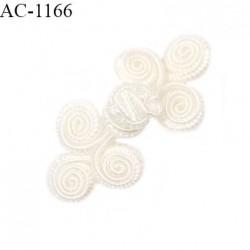 Brandebourg 5 cm lingerie et autres couleur naturel lumineux largeur 5 cm hauteur 2 cm prix à l'unité composé de deux éléments