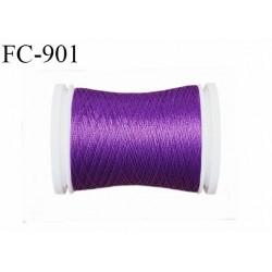 Bobine 500 m fil mousse polyamide n° 120 couleur violet longueur de 500 mètres bobiné en France
