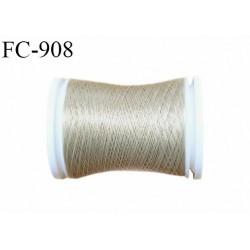 Bobine 500 m fil mousse polyamide n° 120 couleur marron glacé longueur de 500 mètres bobiné en France